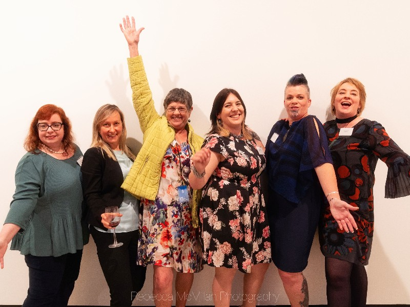 Tech Communicators Unite! Emily, Megan, Sarah, Katie, Shelly, and Emma put the cool in communication at the Plain English Awards 2018.